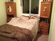 Kids Double Oak Bed Set